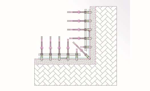 Aluminum Retaining Wall System - Retaining Wall Form Plan at the Corner