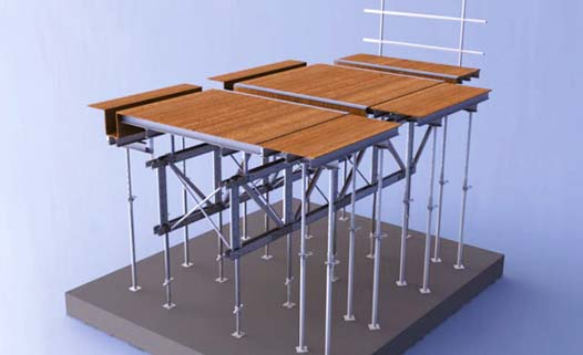 Aluminum Table Form System - Flat Slab and Drop Beam Versatile
