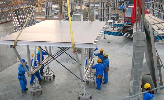 Aluminum Table Form System - Moving of Truss