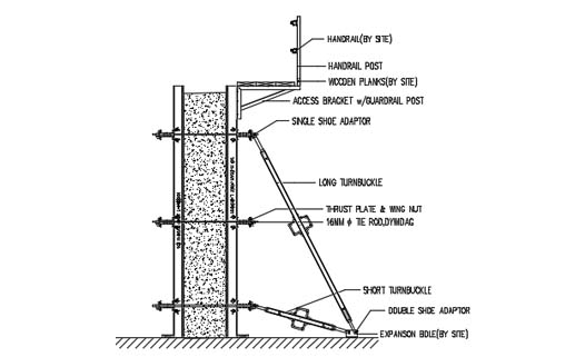 Aluminum column system - Main parts